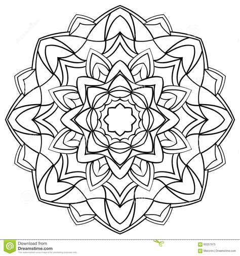 coloring book free vector mandala for coloring book stock vector image of