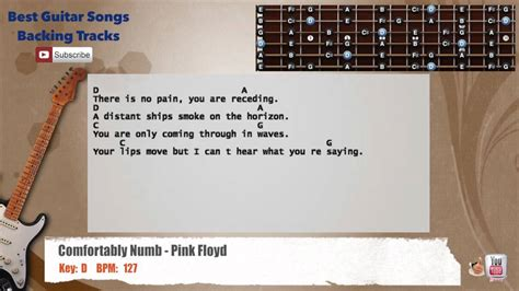 comfortably numb backing track comfortably numb pink floyd guitar backing track with