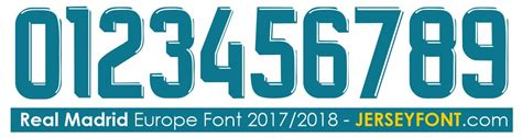 Custom Font Nameset Chelsea 2017 2018 Ucl real madrid 2015 2016 font ttf and vector