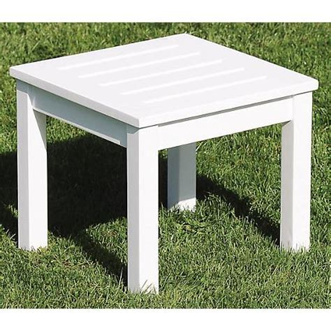 white outdoor side table eucalyptus white outdoor side table m7950 ls plus