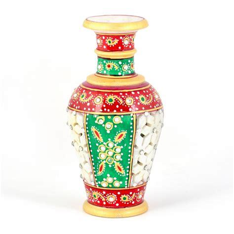 Colorful Flower Vase by Golden Minakari Jali Cut Work Colorful Flower Vase 403