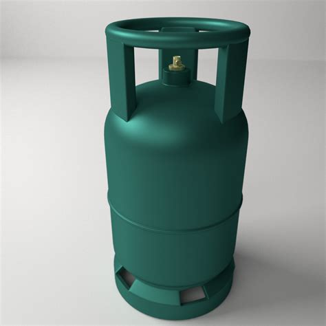 Blender Gas gas cylinder 3d model 3ds fbx blend dae cgtrader