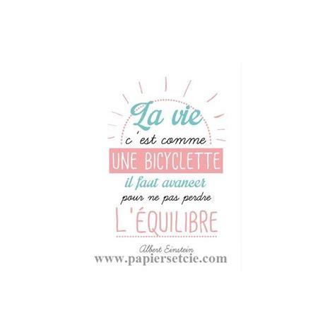 Diy Washi Tape by Carte Citation Quot La Vie C Est Comme Une Bicyclette Quot Einstein