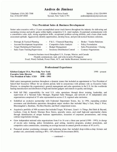 Best Resume For Sales Position by Sle Resumes Sales Resume Or Sales Management Resume