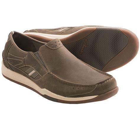 Taupe Color Clarks Watkins Park Shoes Nubuck Slip Ons For Men