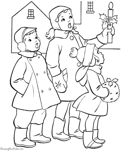 coloring page christmas carolers a christmas carol coloring pages coloring pages