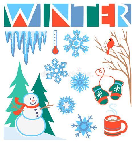 clipart inverno arte di clip di inverno fissata env illustrazione
