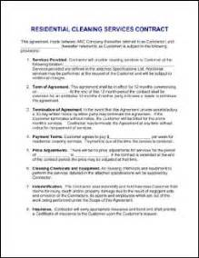 Janitorial Contracts Templates by House Cleaning Sle House Cleaning Contract Sle