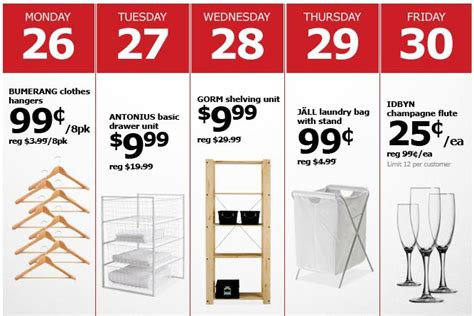 Pick Up In Store Ikea ikea after christmas sale 99 for an 8 pack of wooden