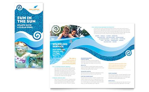 Service Brochure Template by Swimming Pool Cleaning Service Brochure Template Word