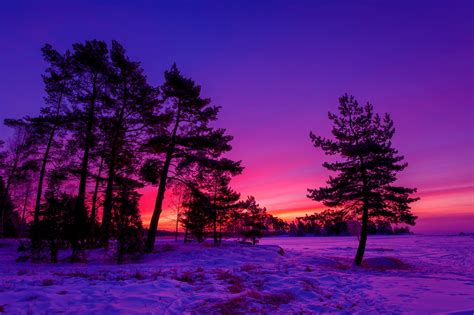 hd awesome winter sunset desktop wallpapers hd free