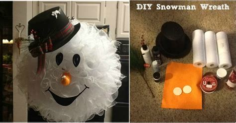 Pinterest Crafts Christmas - make your front door fun and festive with this easy diy snowman wreath handy diy