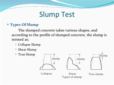 Slump Test fresh concrete properties its standard tests