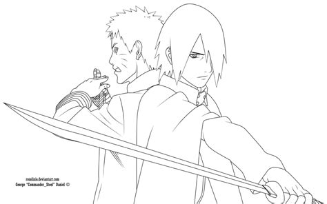 naruto and sasuke lineart by kryptonstudio on deviantart naruto and sasuke boruto the movie lineart by