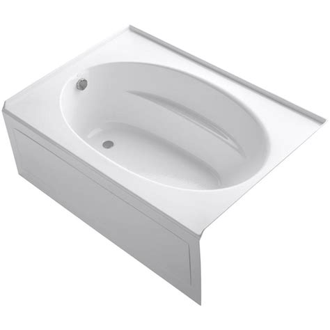 kohler soaking bathtubs kohler windward 5 ft left hand drain with integral apron