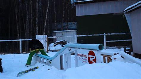 Snowboard Rails For Backyard by Backyard Pvc Rail Edit