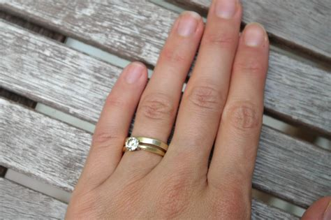 inspirational how to wear wedding band with engagement