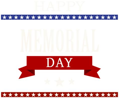memorial day clipart happy memorial day transparent png clip image