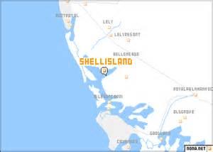 shell island united states usa map nona net