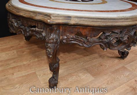 italian granite round table top ebay carved italian rococo coffee table round marble top ebay
