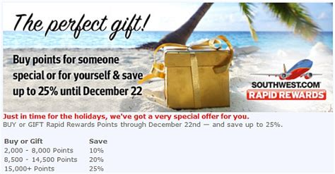 Can You Buy Points With A Southwest Gift Card - southwest airlines rapid rewards buy points promotion december 2013 loyaltylobby