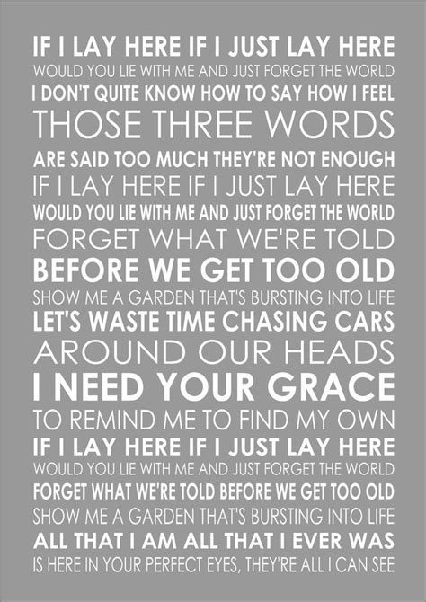 by snow patrol chasing cars lyrics 17 best images about then there was music on pinterest