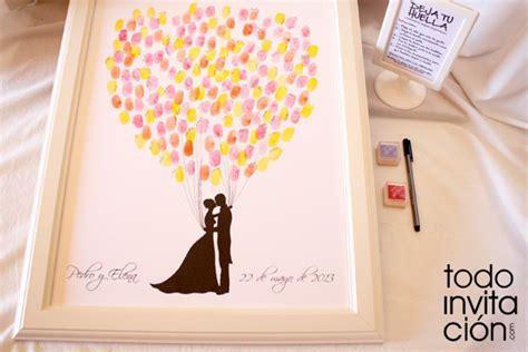 cuadro de firmas para boda cuadro de firmas con huellas para invitados de boda www