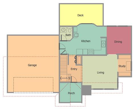 how to make a house plan floor plans solution conceptdraw