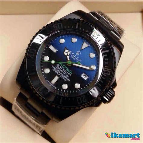 Jam Tangan Rolex Z053 Black Blue rolex deepsea sea dweller d blue black jam tangan