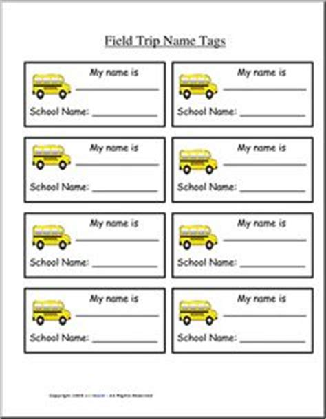 printable bus tags for students 1000 images about field trips on pinterest field trips