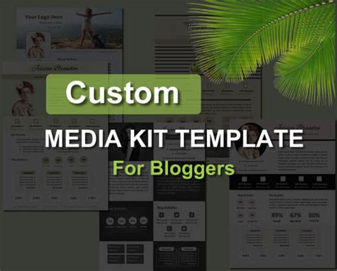 5 editable media kit template for bloggers electronic