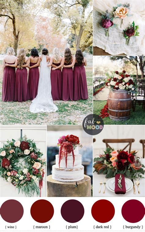 wedding by color burgundy wedding theme autumn wedding shades of burgundy
