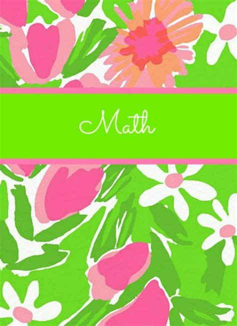 Math Binder Cover Templates by The Preppy Ballerina Preppy Takes Lilly Pulitzer To