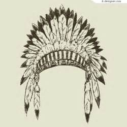 Feathers Tribe Hat Vector Hat Chief » Home Design 2017