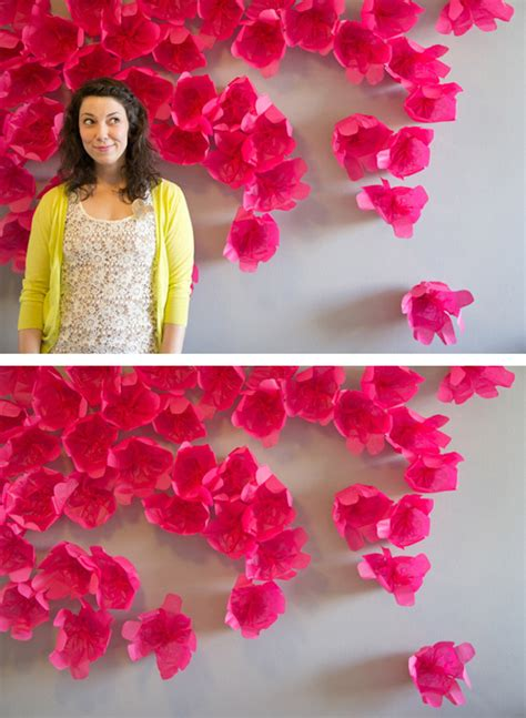 tissue paper flower wall tutorial tissue paper wall flower backdrop google search crafts