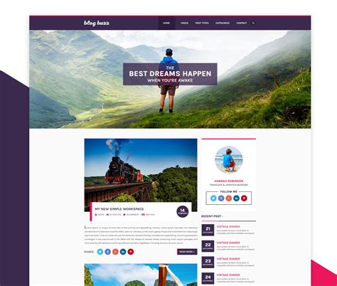 personal blog website template psd at downloadfreepsd com