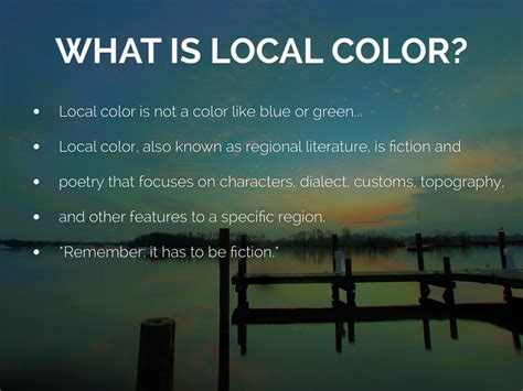 local color by maddy fox