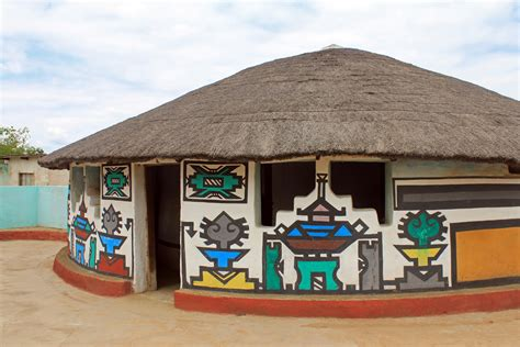 village house ndebele village house