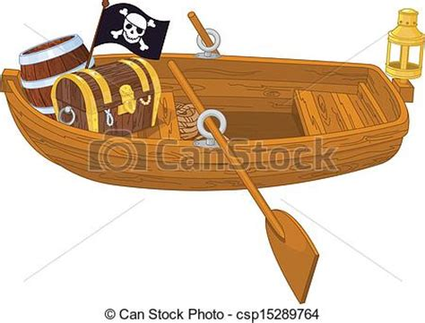 row boat en francais clip art vector of rowboat illustration of wooden pirate
