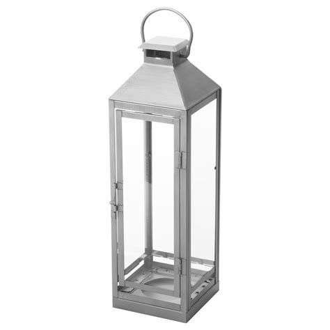 lantern ikea lagrad lantern f block candle in outdoor silver colour 43