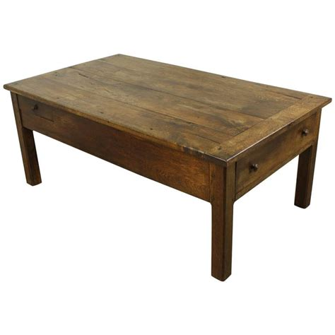 Country Coffee Table Antique Oak Country Coffee Table Two Drawers At 1stdibs