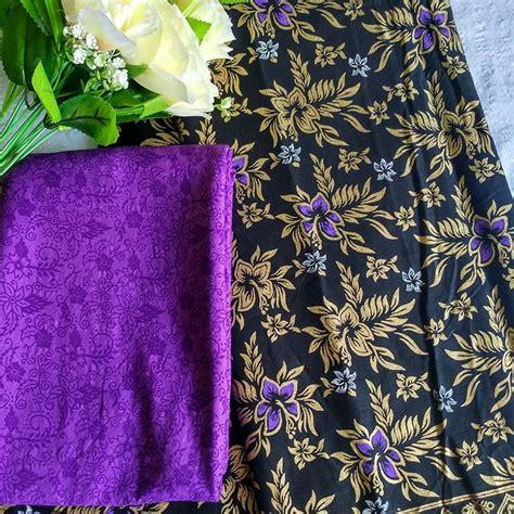 Kain Batik Prada Pekalongan Tanpa Embos 17 kain batik prada motif bunga daun kombinasi embos p2 3