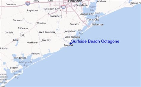 surfside texas map surfside octagone surf forecast and surf reports texas usa
