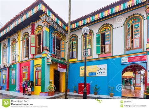 Little House Plans Free colorful facade of building in little india singapore