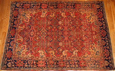 Handcrafted Rugs - antique sarouk farahan handmade rug 1880s for