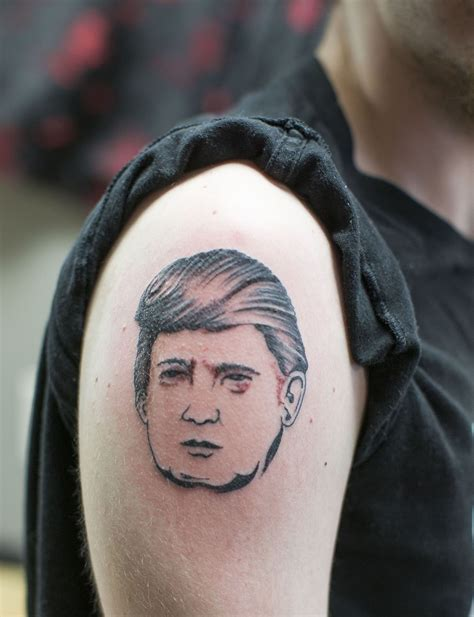 tattoo of us donald trump donald trump tattoos show support more than skin deep