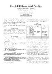 Ieee Journal Template by Ieee Paper Format