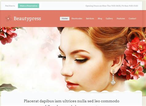 themeskingdom beautypress 11 wordpress themes for hair salons spas wp solver