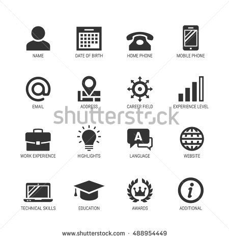 Job Resume Language Skills by Resume Curriculum Vitae Related Vector Icon Stock Vector