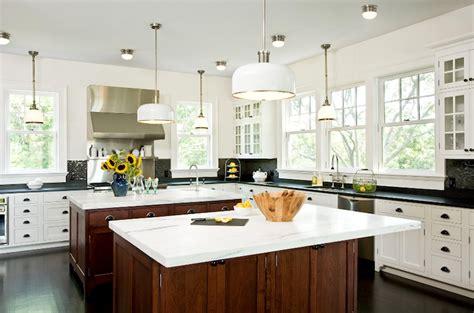 Kitchen Islands, Milk Chocolate Brown Stained Cabinets, White Kitchen